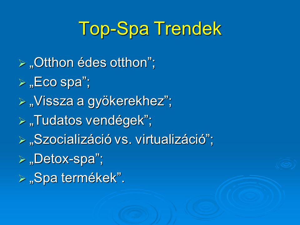 "Top-Spa Trendek ""Otthon édes otthon ; ""Eco spa ;"