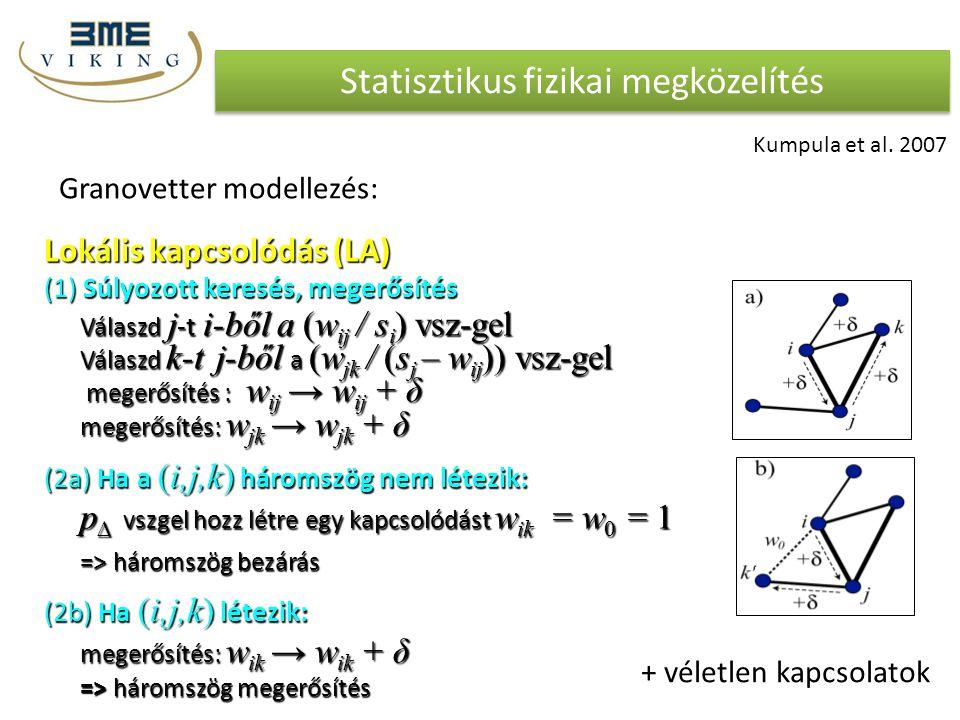 Statisztikus fizikai megközelítés