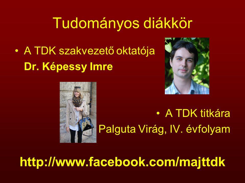 Tudományos diákkör http://www.facebook.com/majttdk