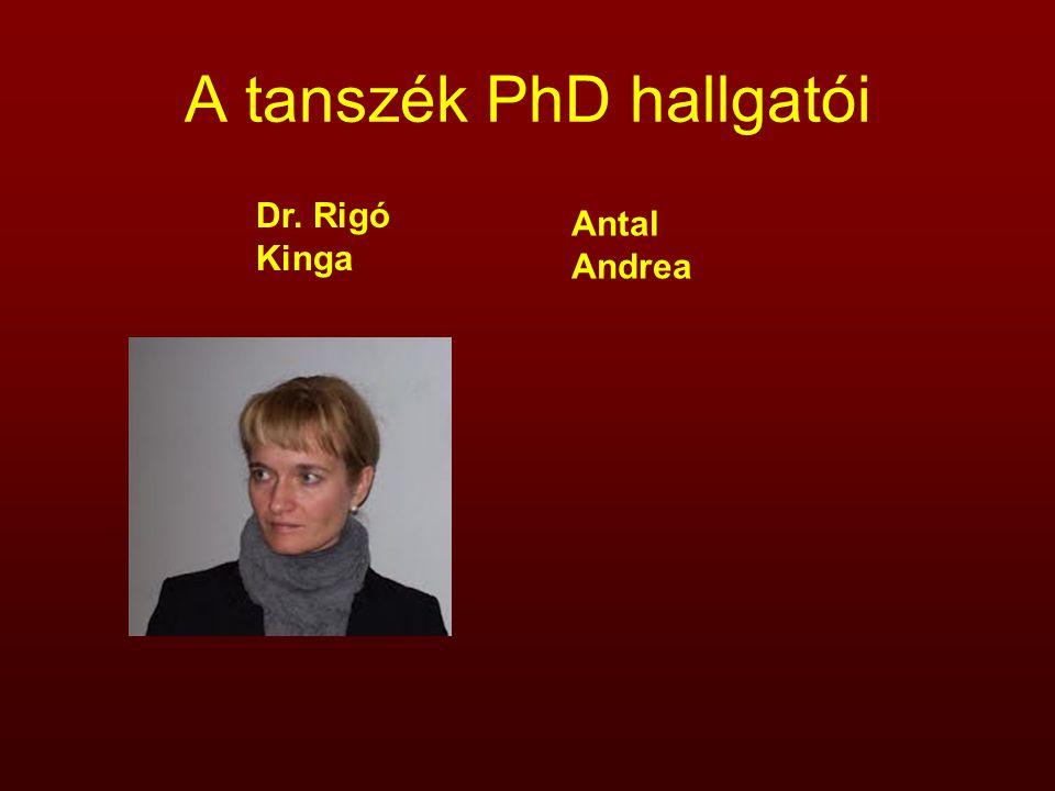 A tanszék PhD hallgatói
