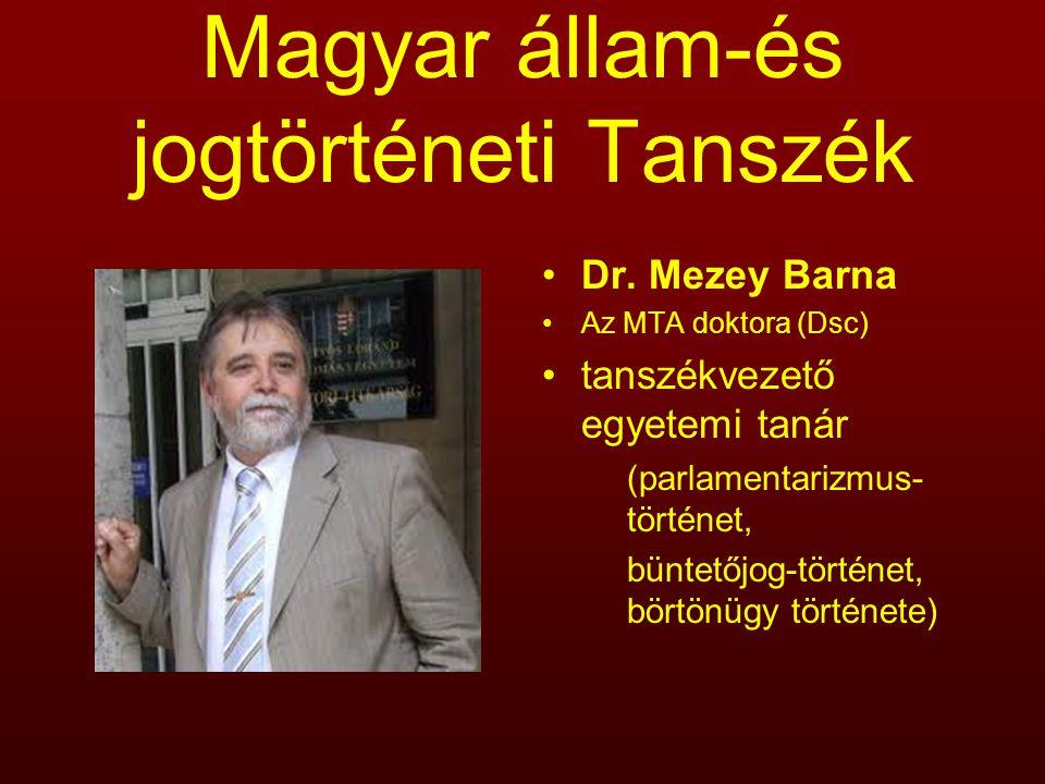 Magyar állam-és jogtörténeti Tanszék