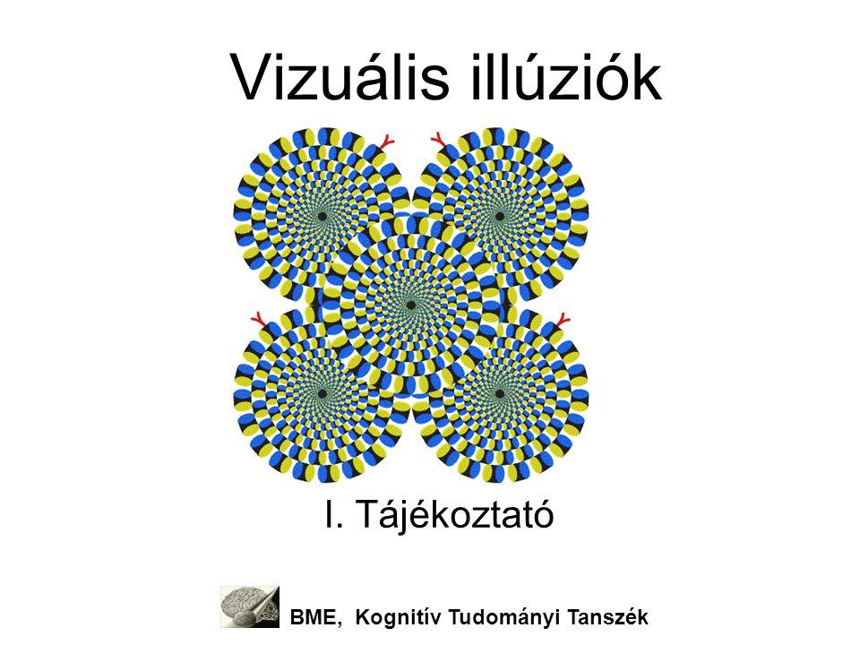 Vizuális illúziók I. Tájékoztató BME, Kognitív Tudományi Tanszék