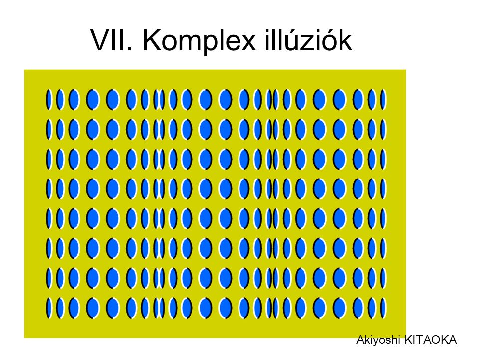 VII. Komplex illúziók Akiyoshi KITAOKA