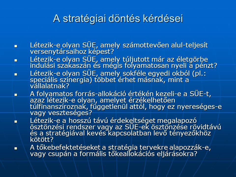 A stratégiai döntés kérdései