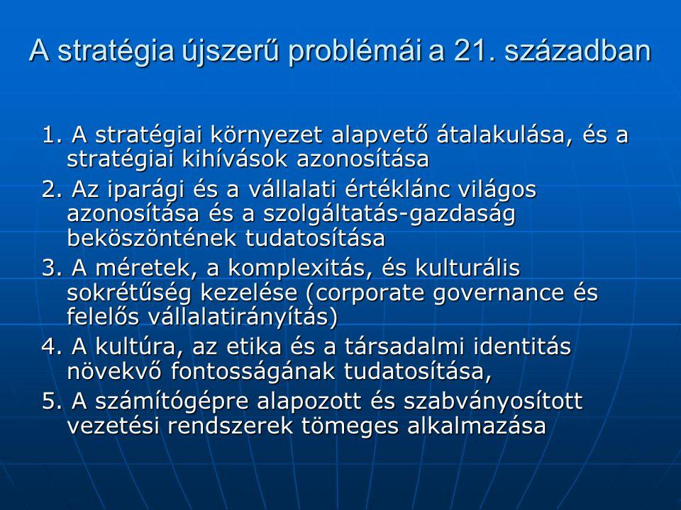 A stratégia újszerű problémái a 21. században