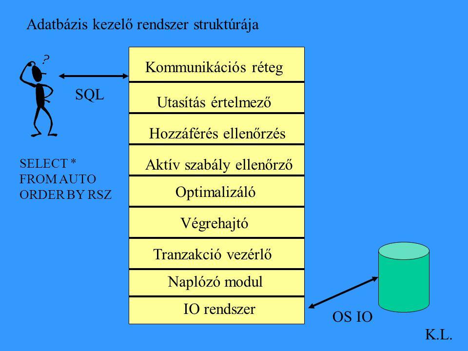 Adatbázis kezelő rendszer struktúrája