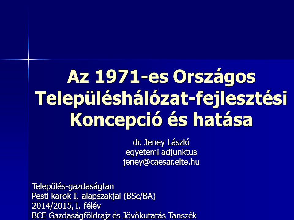Az 1971-es Országos Településhálózat-fejlesztési Koncepció és hatása