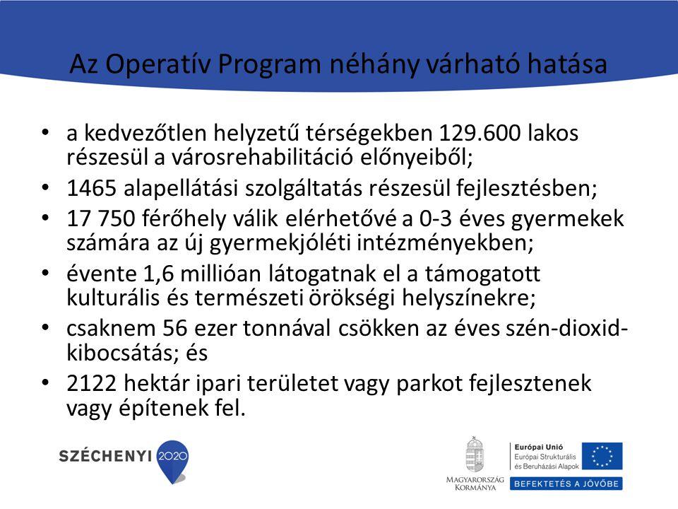Az Operatív Program néhány várható hatása