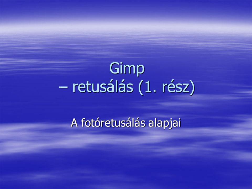 Gimp – retusálás (1. rész)
