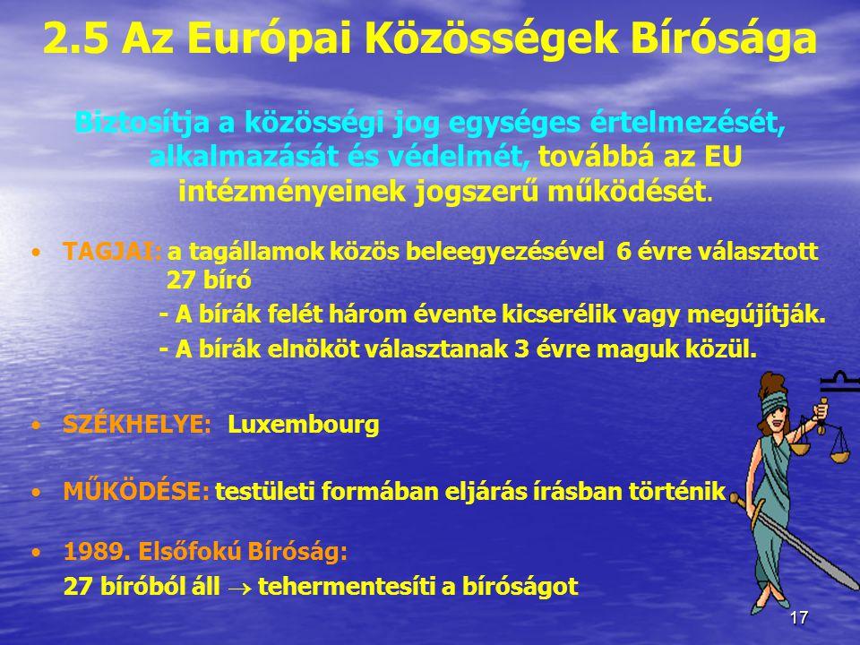 2.5 Az Európai Közösségek Bírósága