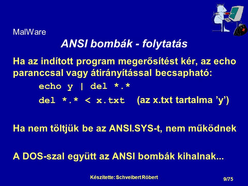 MalWare Programférgek