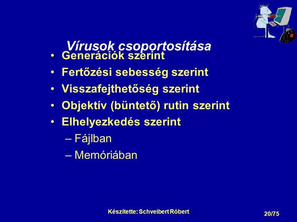 Vírusok csoportosítása Generációk szerint