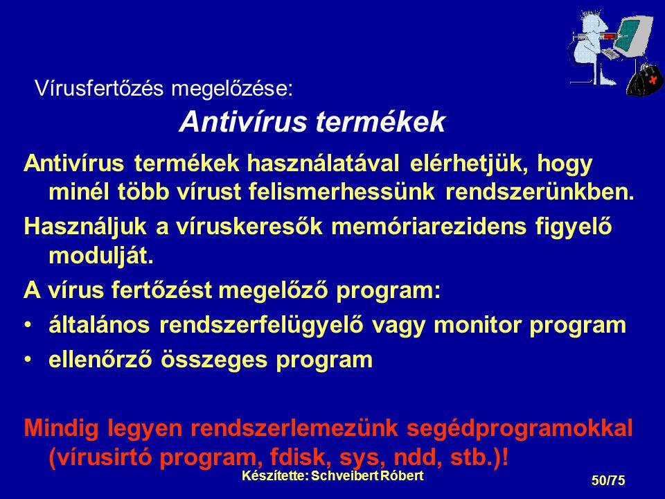 Vírusfertőzés detektálása: Vírusra utaló jelenségek