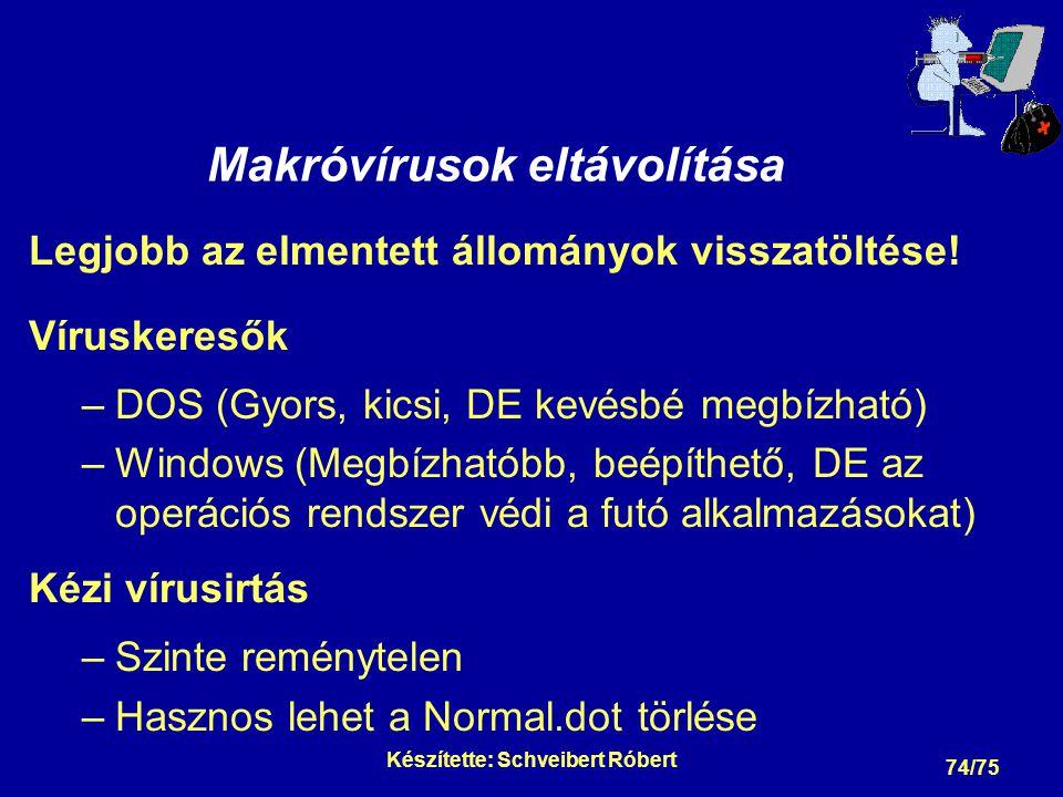 Néhány vírusvédelmi rendszer