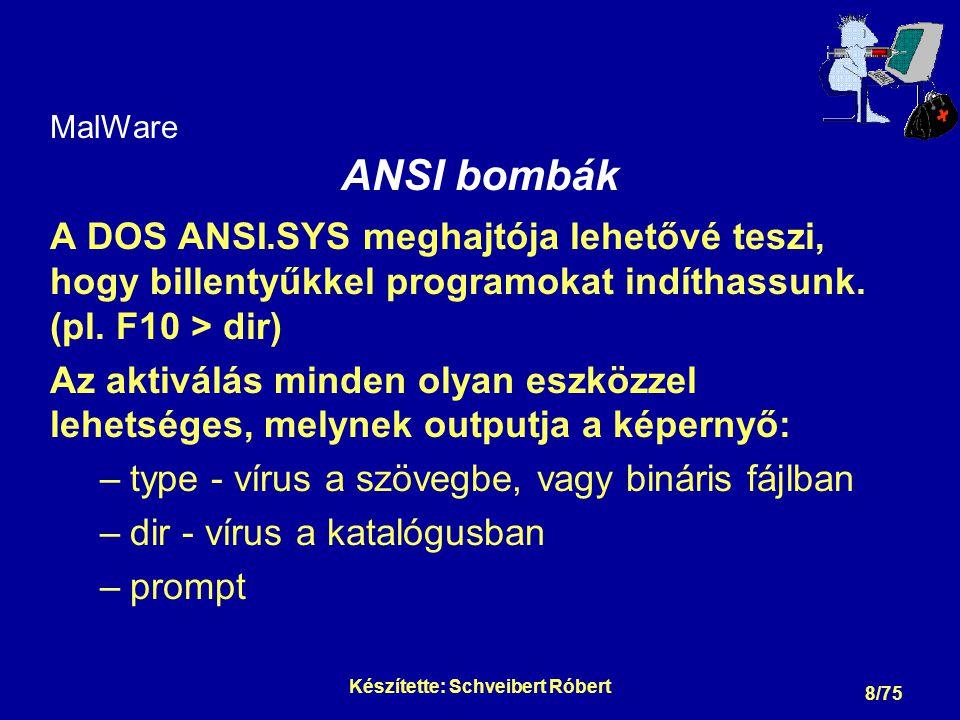 MalWare ANSI bombák - folytatás