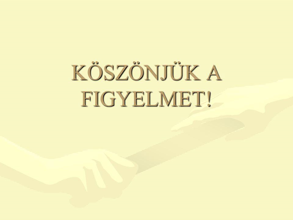 KÖSZÖNJÜK A FIGYELMET!