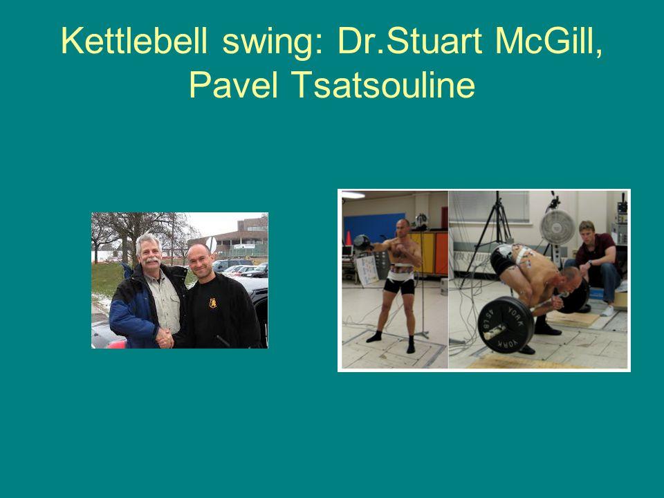 Kettlebell swing: Dr.Stuart McGill, Pavel Tsatsouline