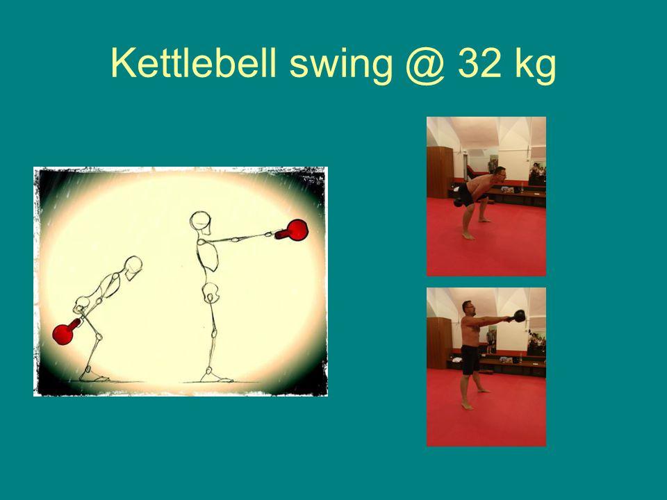 Kettlebell swing @ 32 kg