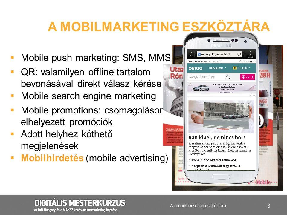 A mobilmarketing eszköztára