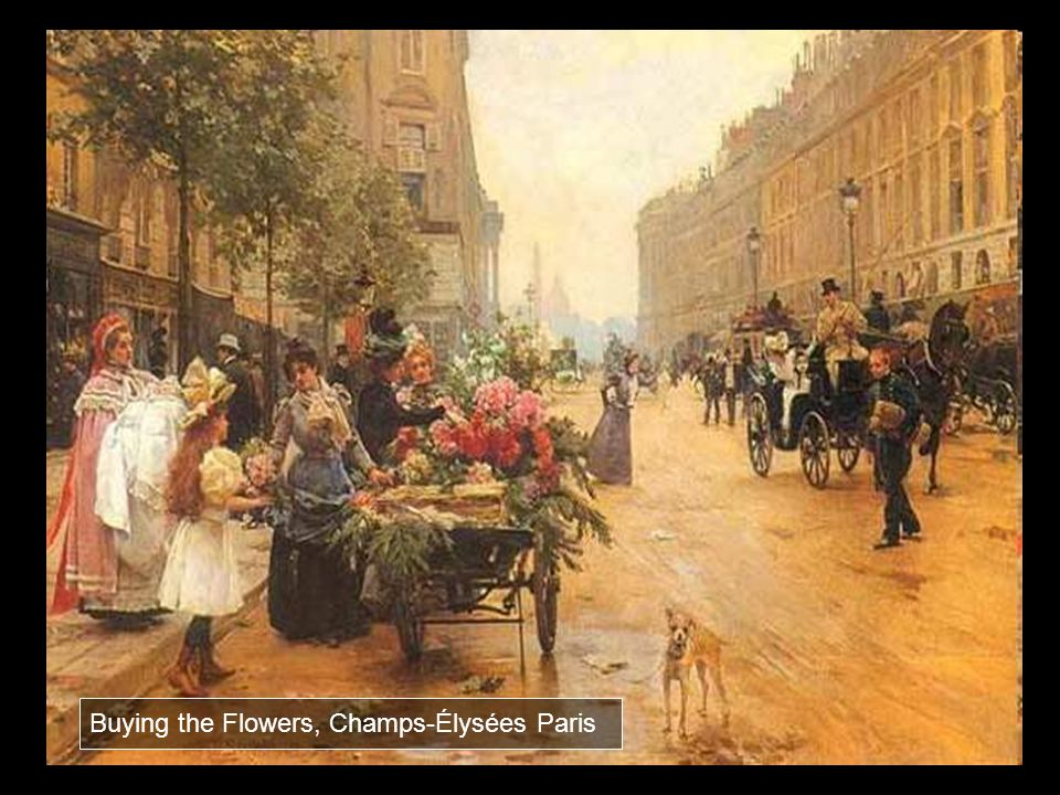 Buying the Flowers, Champs-Élysées Paris