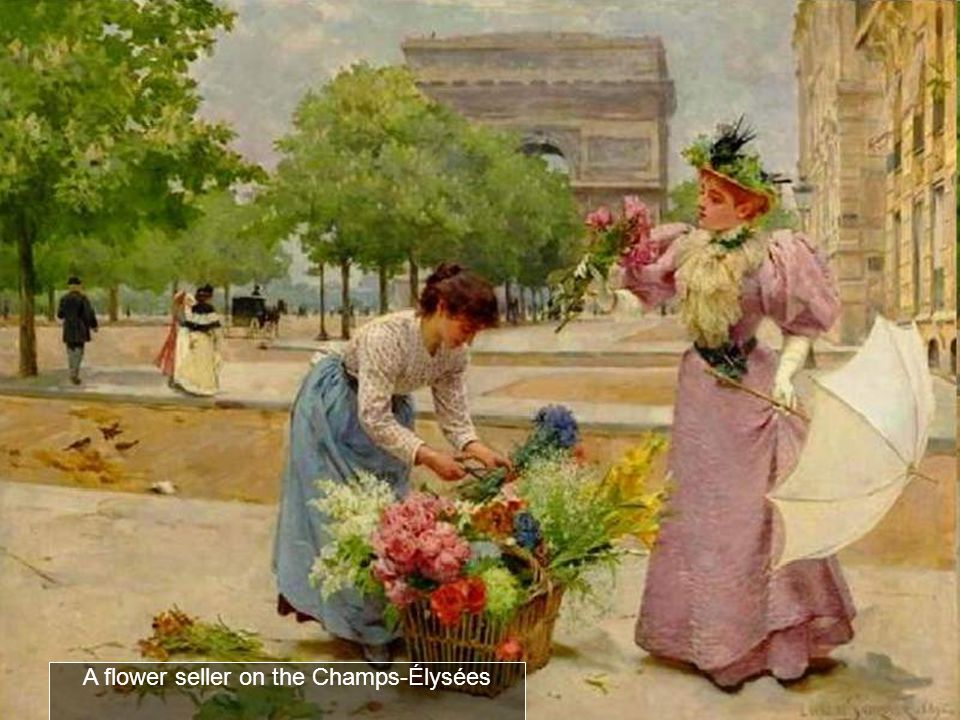 A flower seller on the Сhamps-Élysées
