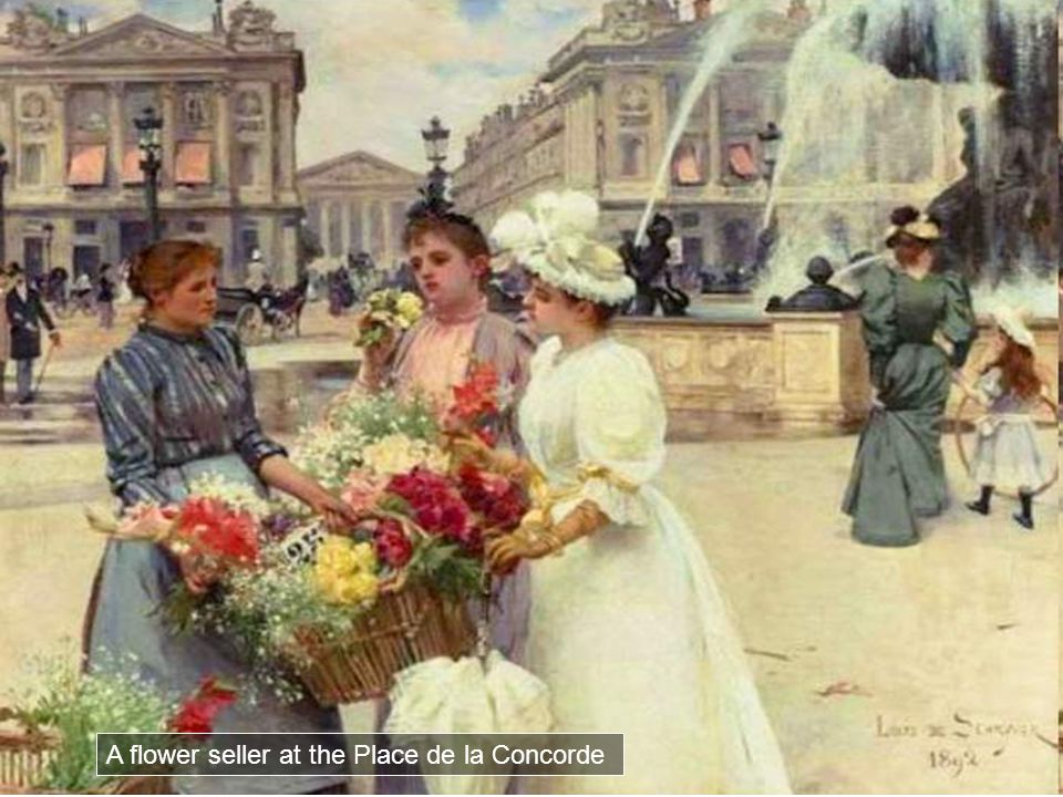 A flower seller at the Place de la Concorde