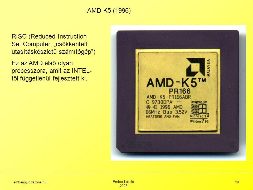 """AMD-K5 (1996) RISC (Reduced Instruction Set Computer, """"csökkentett utasításkészletű számítógép )"""