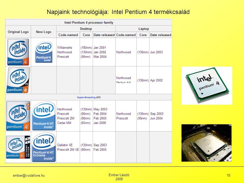 Napjaink technológiája: Intel Pentium 4 termékcsalád