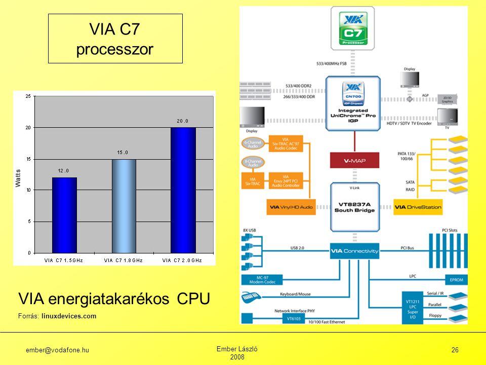 VIA energiatakarékos CPU