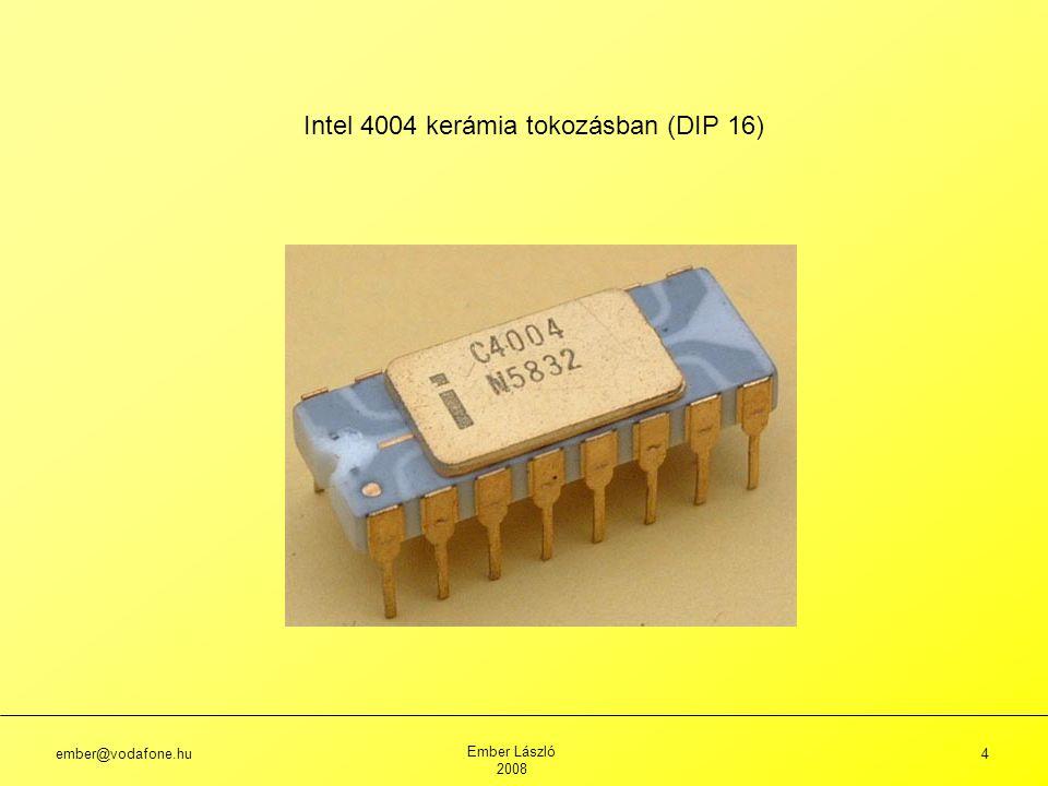 Intel 4004 kerámia tokozásban (DIP 16)