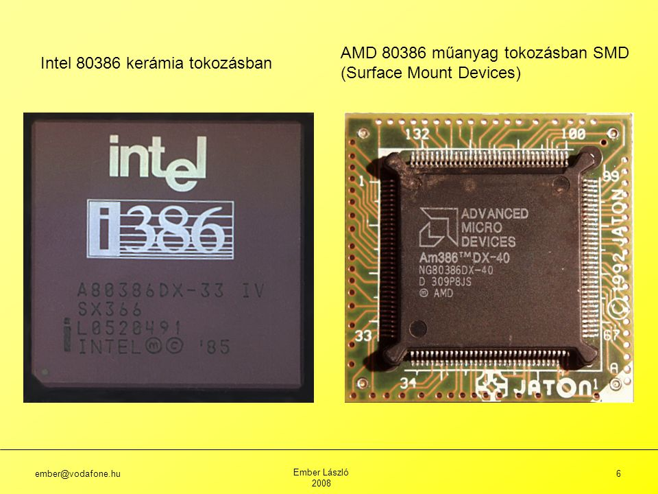 AMD 80386 műanyag tokozásban SMD (Surface Mount Devices)