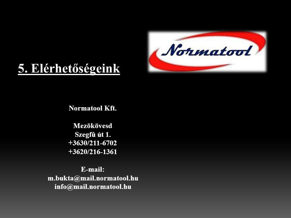 Normatool Kft. Mezõkövesd Szegfû út 1. +3630/211-6702