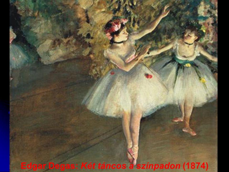 Edgar Degas: Két táncos a színpadon (1874)