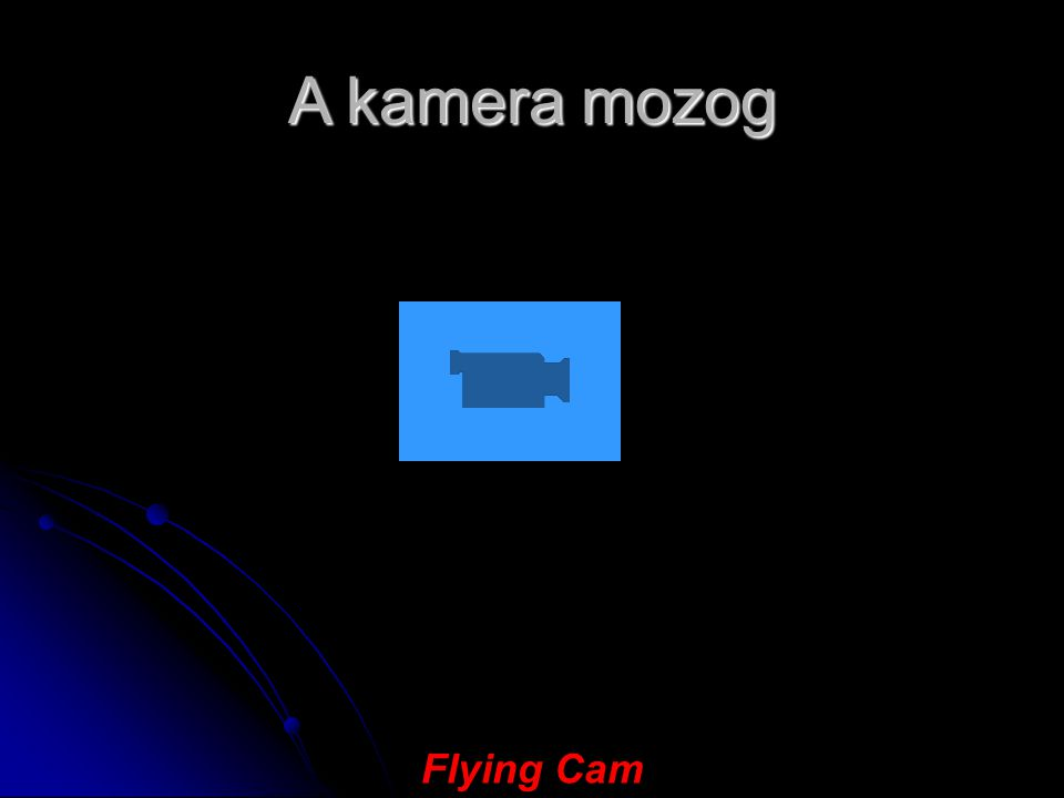 A kamera mozog Flying Cam