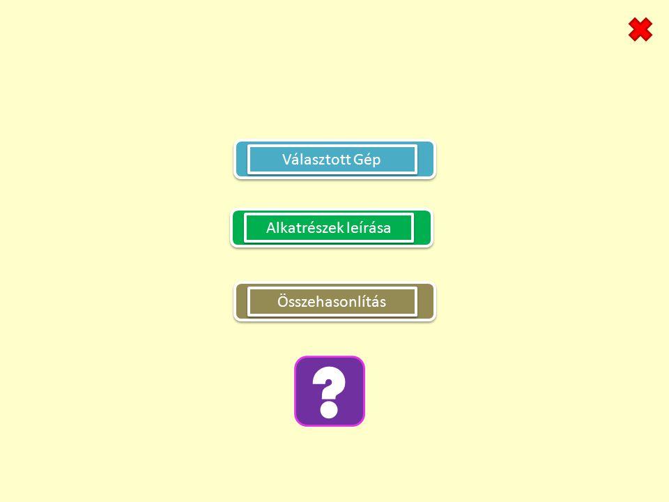 Választott Gép Alkatrészek leírása Összehasonlítás
