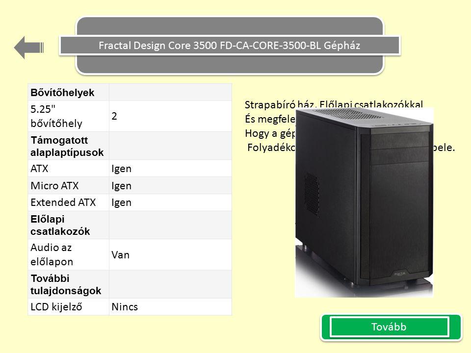 Fractal Design Core 3500 FD-CA-CORE-3500-BL Gépház