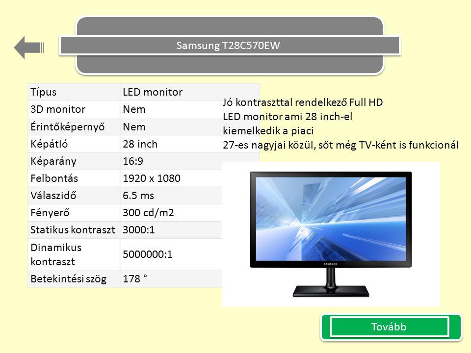 Samsung T28C570EW Típus LED monitor. 3D monitor Nem. Érintőképernyő Képátló 28 inch. Képarány