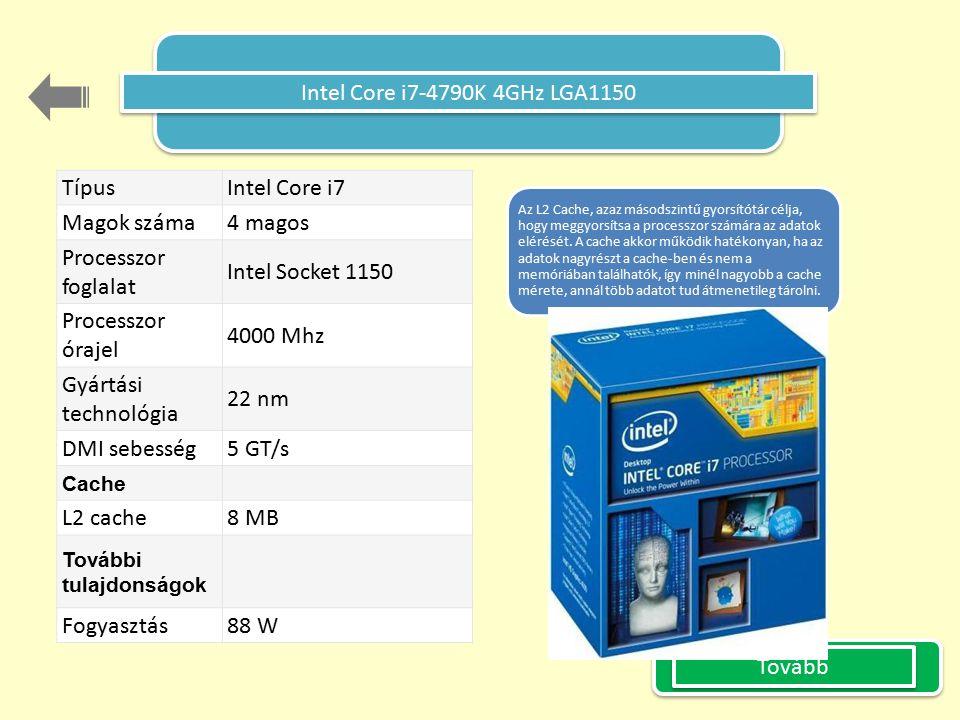 Intel Core i7-4790K 4GHz LGA1150 Típus Intel Core i7 Magok száma