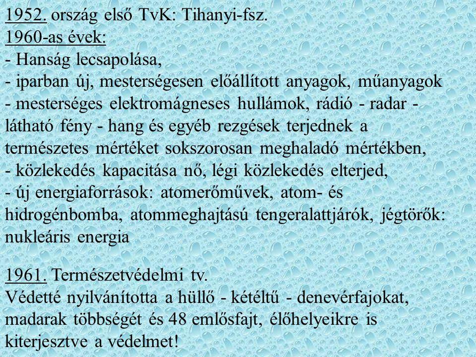 1952. ország első TvK: Tihanyi-fsz.