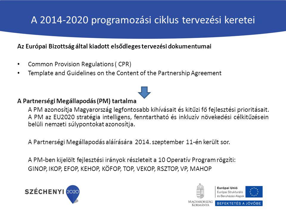 A 2014-2020 programozási ciklus tervezési keretei
