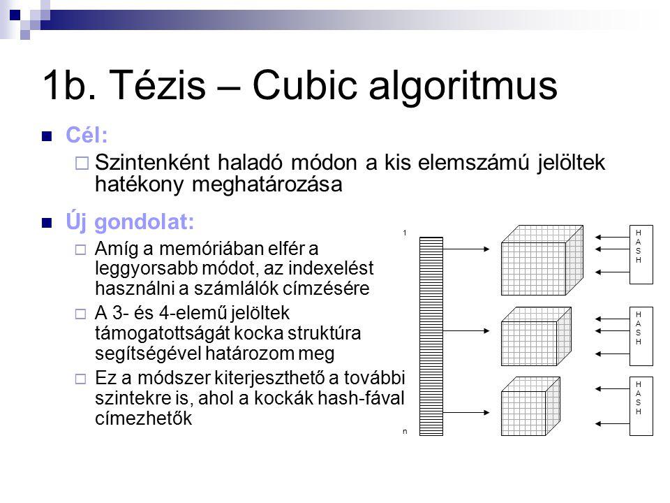 1b. Tézis – Cubic algoritmus