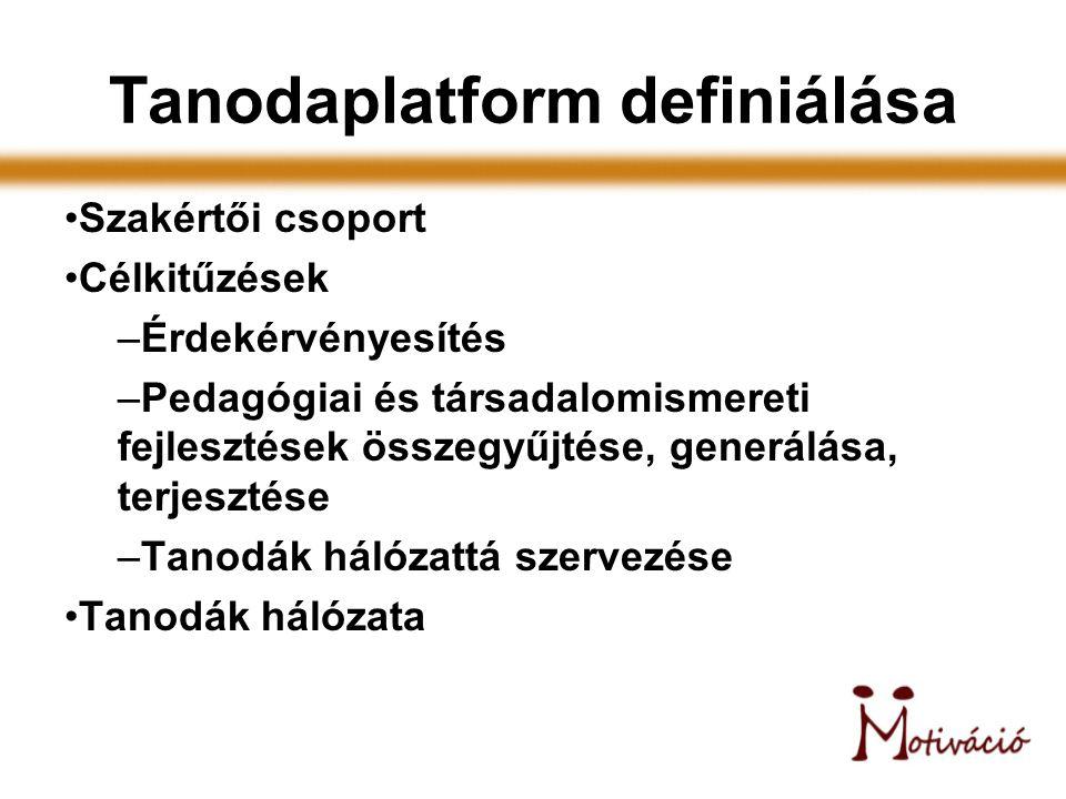 Tanodaplatform definiálása