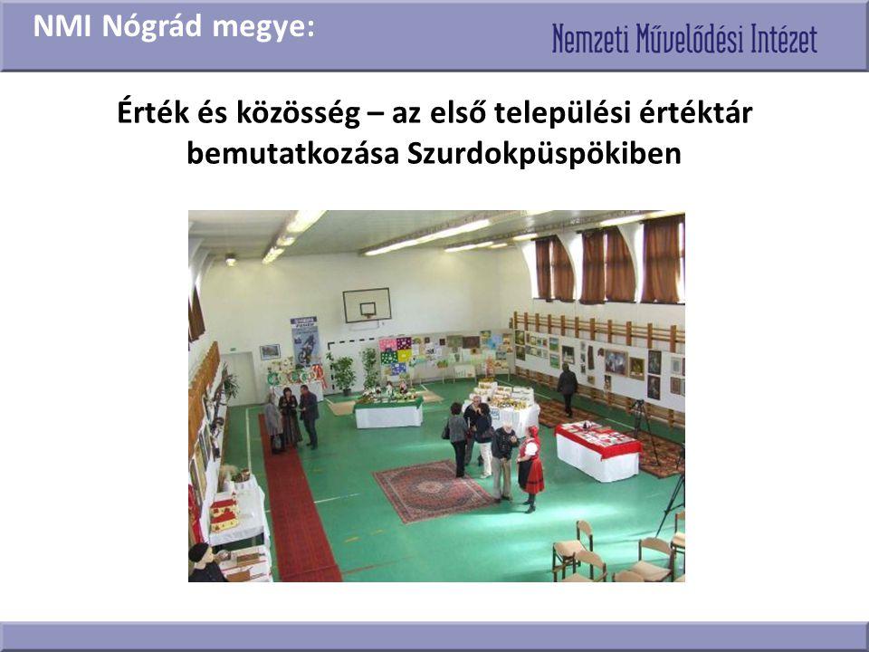 NMI Nógrád megye: Érték és közösség – az első települési értéktár bemutatkozása Szurdokpüspökiben