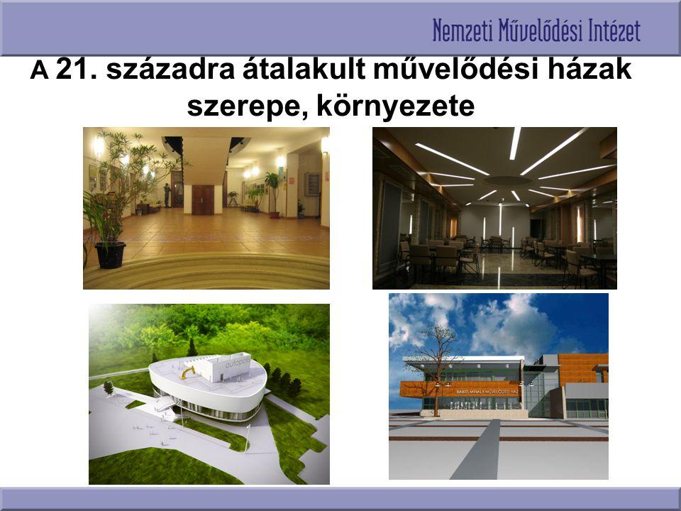A 21. századra átalakult művelődési házak szerepe, környezete