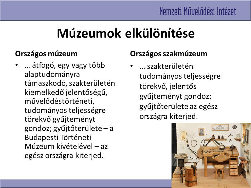 Múzeumok elkülönítése