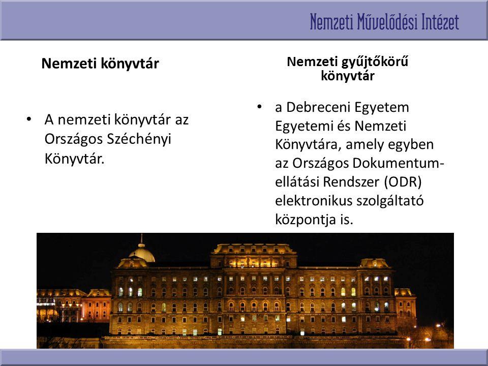 Nemzeti gyűjtőkörű könyvtár