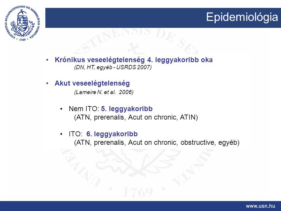 Epidemiológia Krónikus veseelégtelenség 4. leggyakoribb oka