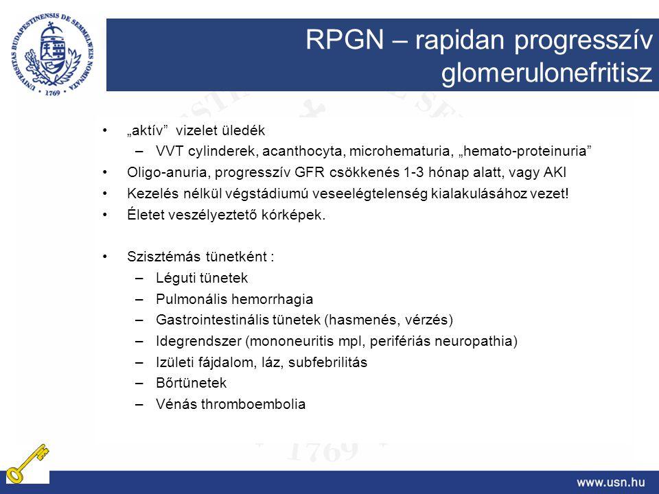 RPGN – rapidan progresszív glomerulonefritisz