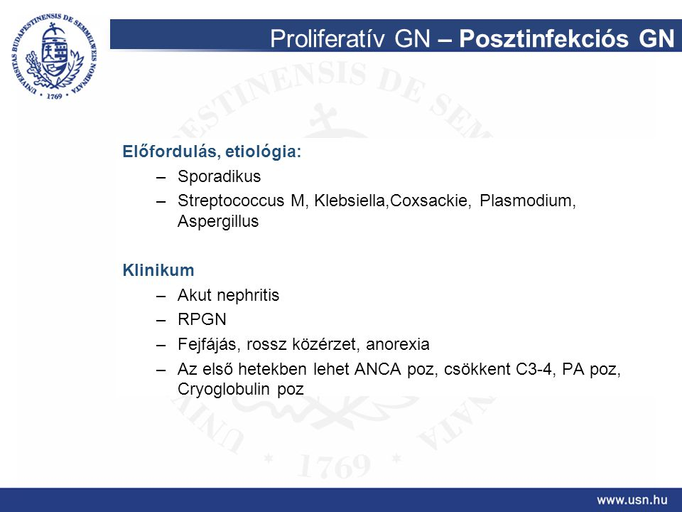 Proliferatív GN – Posztinfekciós GN