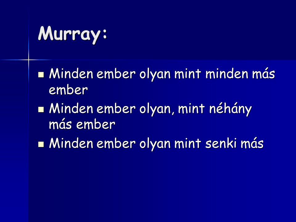 Murray: Minden ember olyan mint minden más ember